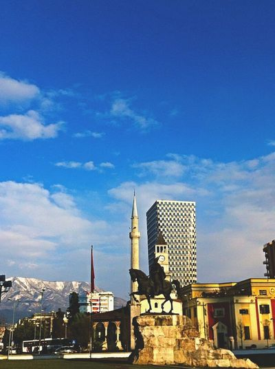 Cold Days Cold Day Tirana Albania Architecture Sunlight Golden Light New Building  Clock Tower Skenderbeu