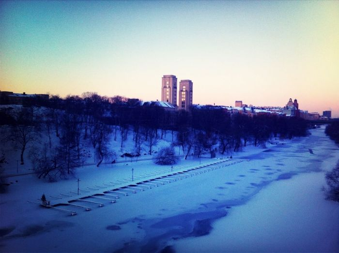So, this is what my walk to work looks like in -9°c!