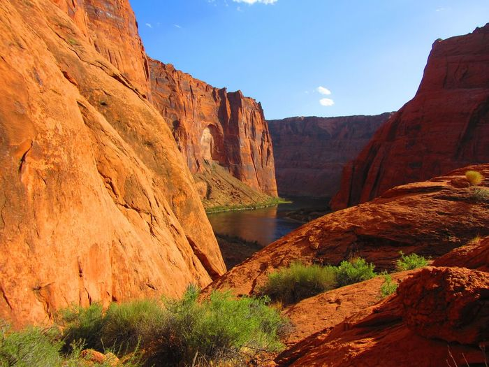 A sunny perch above the Colorado River, Glen Canyon, Arizona. Arizona Glen Canyon Beauty In Nature Canyon Cliff Colorado River Geology Landscape Nature Outdoors River Rock Formation Sandstone Sandstone Cliffs Scenics Tranquil Scene Tranquility Travel Destinations Water First Eyeem Photo Lost In The Landscape EyeEmNewHere Perspectives On Nature The Great Outdoors - 2018 EyeEm Awards