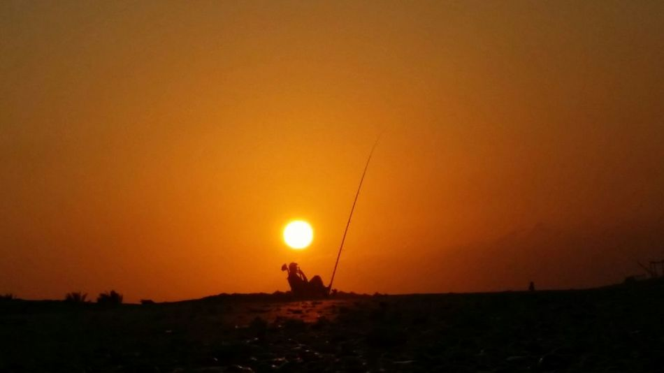 Sunset Orange Color Sun Silhouette Outdoors Adult Nature Sky People Adults Only One Person Only Men One Man Only Beauty In Nature Day Sin ai Rethink Things Perspectives On Nature