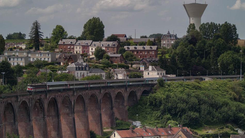 Barentin Bridge Brücke Château D'eau Eisenbahnbrüc Pont Railway Bridge Viadukt Wasserturm Water Tower