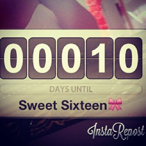 Tomorrow its a countdown before my sweet 16 day. Happy Birthday to me :) another year again. Feeling16 Sweet16 HBD