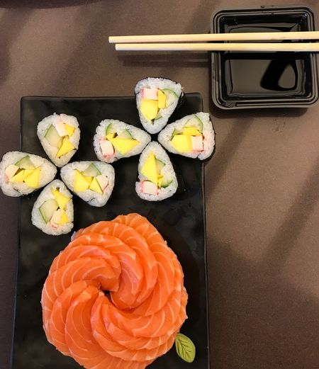 Freshness Food Food And Drink Japanese Food Still Life Asian Food Sushi Healthy Eating High Angle View
