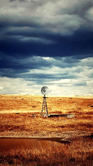 Windmill Clouds Dark Pasture Colorado Samsungphotography Samsung Galaxy S6 Edge Snapseed Getting Inspired Check This Out Getting Creative Something Different Colorful Cool