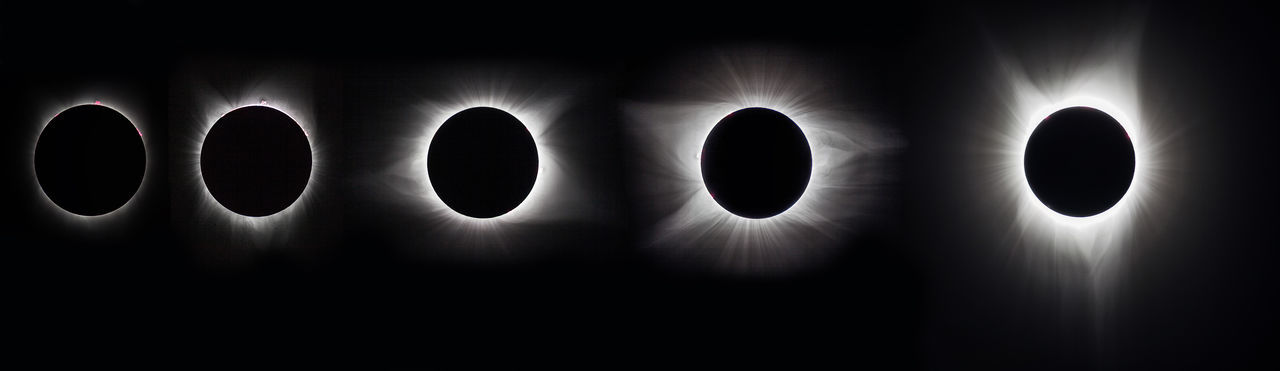 Multiple image of eclipse