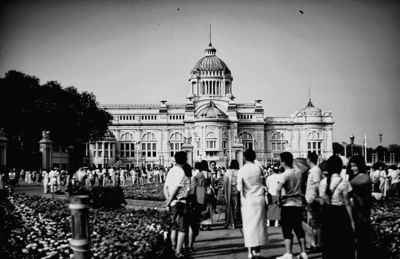 The grounds of The dusit palace in Bangkok Thailand. Vintage Vintage Photo Vintage Style Ananta Samakhom Throne Hall อุ่นไอรัก Thai Thaland B/w Blackandwhite Politics And Government City Politics Government History Architecture Sky Building Exterior