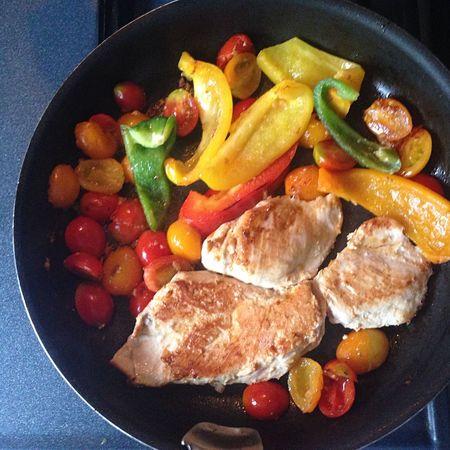 다이어트를 위한 닭가슴살 요리! 토마토, 파프리카, 올리브오일