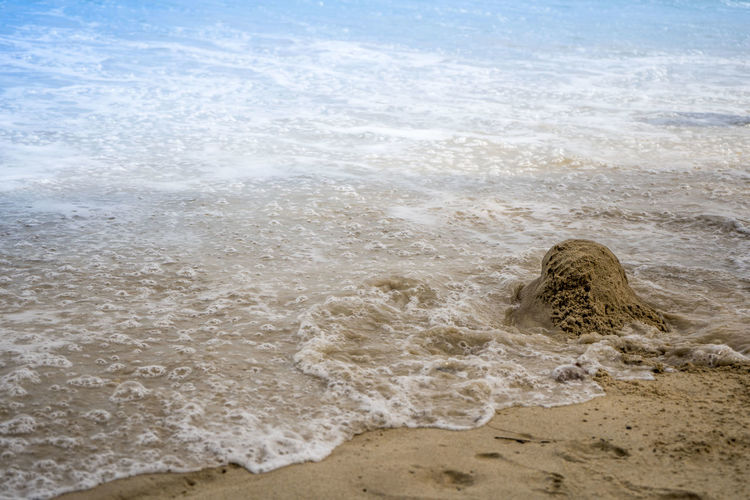 Image result for crumbling sandcastles and footprints