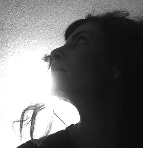 Playing With Light Fooling Around Light High Contrast Black And White Self Portrait Selfie ✌ That's Me! Profile Dramatic