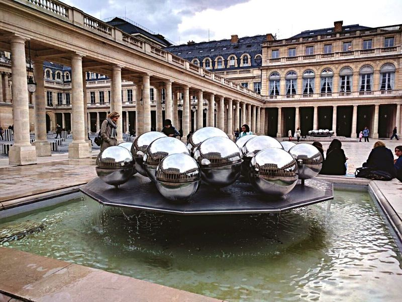 Building Exterior Built Structure Architecture Day Outdoors Travel Destinations Water Statue Large Group Of People Gondola - Traditional Boat Sky People Grandpalais Paris