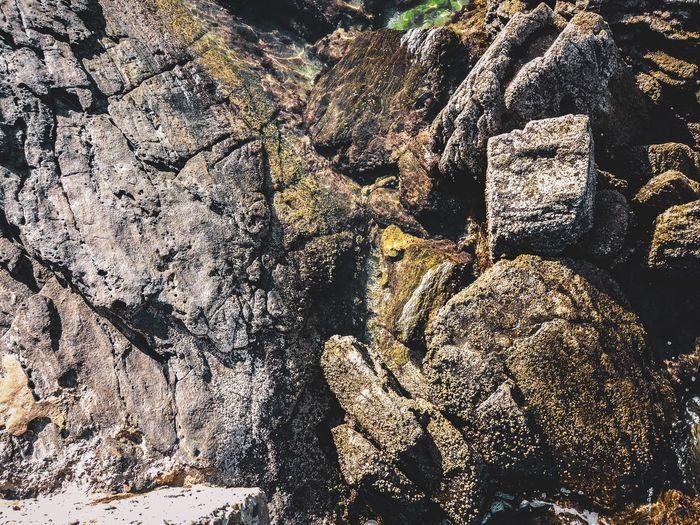 Sea stones Praia Do Forte RJ Cabo Frio Playa Praia Stone Full Frame Backgrounds No People High Angle View Sunlight Nature Day Outdoors Land Textured  Beach Shadow Abundance