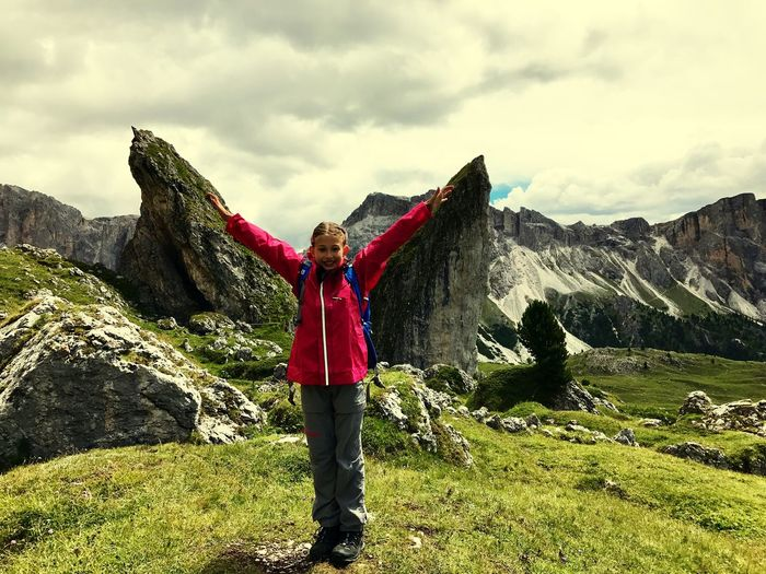Idle Odle Dolomiti Dolomites Dolomites, Italy One Person Sky Real People Cloud - Sky Lifestyles Standing Leisure Activity