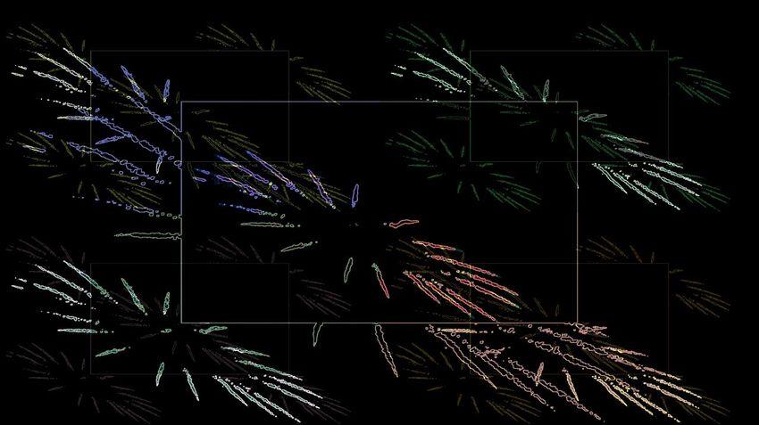 USA Independence Day Celebrations Exploding Flowers Lightning Up The Night Sky