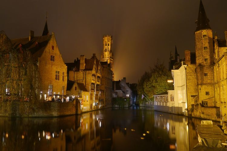 Historic Building Exterior Architecture Built Structure Night Water Illuminated Building Travel Destinations Reflection No People Waterfront Tourism