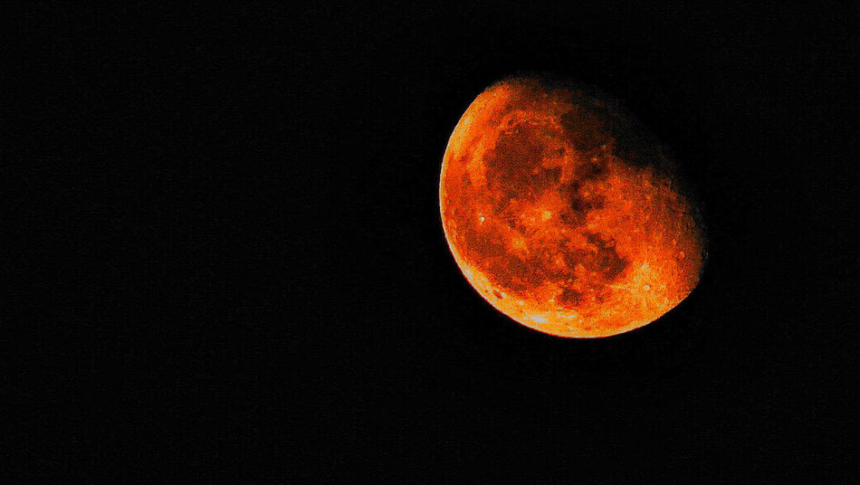 moon Moon Astronomy Orange Color Night No People Nature Outdoors Beauty In Nature Black Background Space Sky Close-up Astrology Sign