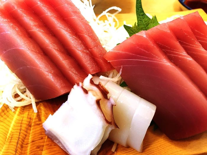 Sashimi Dish Food And Drink Food Freshness Indoors  Healthy Eating No People SLICE Close-up