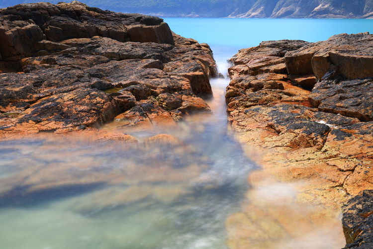 Sai Kung In Hongkong Sai Kung Long Exposure ND Filter Beach Geopark Rock - Object Nature Outdoors Landscape No People Day Sky