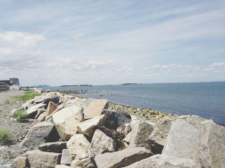 Atlantic Ocean On The Beach Massachusetts