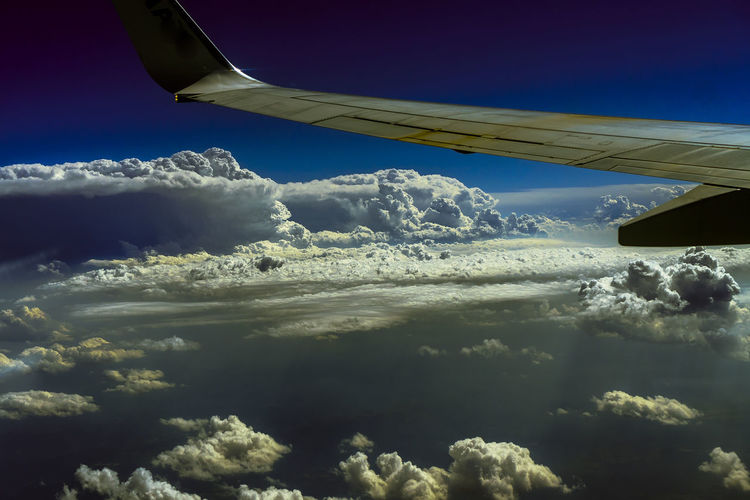 Cloud - Sky Beauty In Nature Sky Nature No People Scenics - Nature Day Aerial View Outdoors Airplane Airline Trip Journey Holiday Air Vehicle Mode Of Transportation Aircraft Wing Transportation Flying Travel Motion Mid-air on the move Cloud