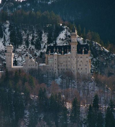 Architecture Building Exterior Castle Famous Place Germany Hohenschwangau Neuschwanstein No People Outdoors Winterview