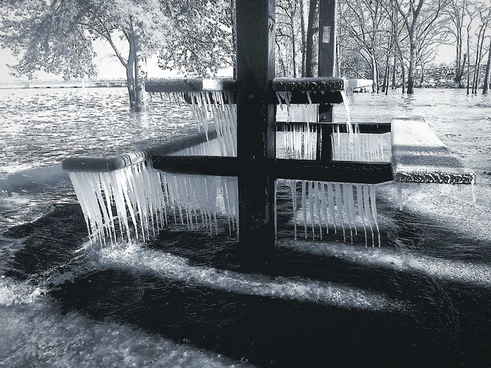 It's Cold Outside Table RockLake Table Rock Dam Icicles 14°F High Water Branson, Missouri Streamzoofamily Ozarks Feel The Journey Ozark Mountains Black And White My Year My View