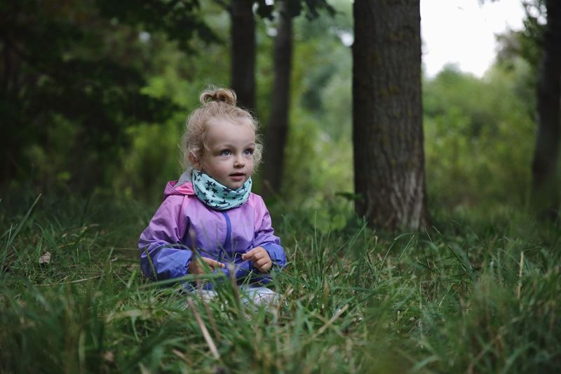 Grass Baby Childhood One Person Real People Nature Outdoors EyeEmNewHere Innocence Daughter Portrait Tranquility Forest Child