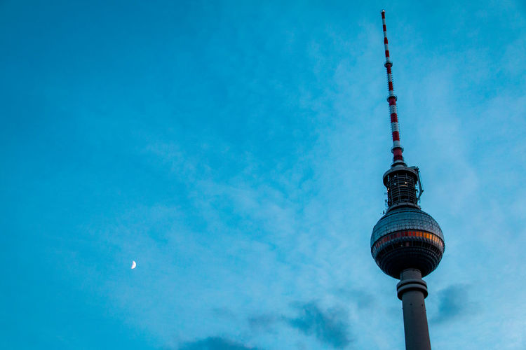 The Best Of Berlin Minimalism Human Vs Nature Architecture Shaping The Future. Together. Berliner Fernsehturm Enjoying Life EyeEm Best Shots EyeEm Gallery Getting Inspired How Do We Build The World? Light And Shadow Looking Into The Future Lookingup Moon Night Perspective Shades Of Blue Simple Moment Sky Sky And City Technology Television Tower The Calmness Within Tower Capture Berlin Adapted To The City Neighborhood Map Discover Berlin