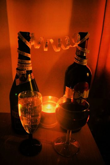 BUEK! Drink Alcohol Igniting Illuminated No People Wine Social Issues Luxury Drinking Glass Indoors  Crystal Glassware Close-up Champangne Glasses First Eyeem Photo
