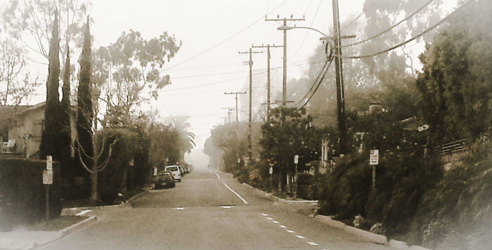 some foggy afternoon about a month ago (january 2014) in Laguna Beach, heading north on Monterrey, approaching Aster. Laguna Beach Streetphotography Show Me Your Sepia Life Is A Beach