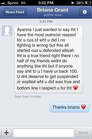 Briana Made My Day But Today I Did stick Up For my Best Freind