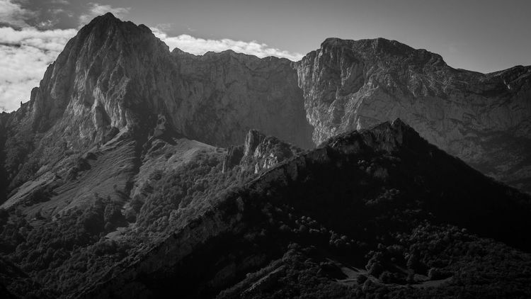 Awe Beauty In Nature Day Landscape Mountain Mountain Peak Mountain Range Mountain Ridge Nature No People Outdoors Picos De Europa Scenics Sky Tranquility Travel Destinations