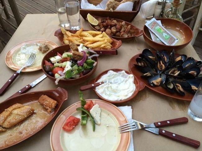 Having a nice Greek meal ❤