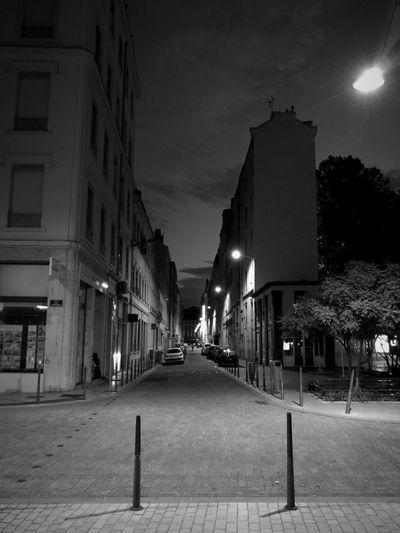 Black & White Night Walking City Brotteaux Lyon France Street Huawei P9 Leica