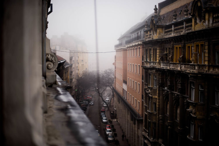 Architecture Budapest City Foggy Foggy Morning Street Travel Weather