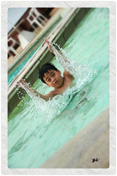 """""""Splash"""" my nephew """"B"""" Splash Family Time Portrait Enjoying Life"""
