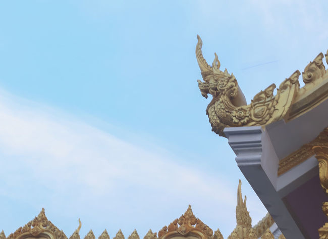 Architecture Architecture Art Blue Budha Temple Budhism Budhist Budhist Temple Building Exterior Built Structure Day Dragon Dragons No People Outdoors Sky Statue Statues Temple Temple - Building Temple Architecture Temples Thai Thai Temple Thailand