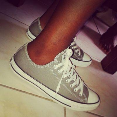 My New Shoes Converse allstarallstarcutehotgreycoolsexyinstameinstashoes
