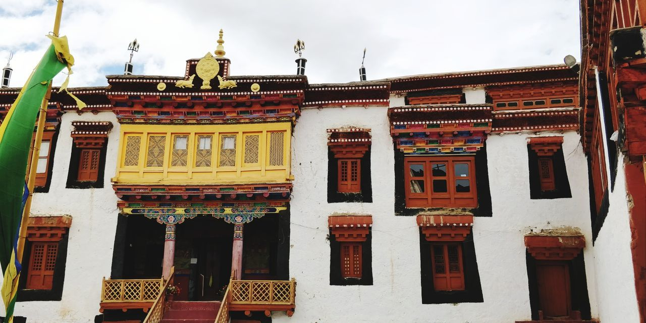 Monestery Buddha India EyeEm Selects Man Made Object Budhism Budhist Temple Leh Ladakh.. City Text Sky Architecture Historic Place Of Worship Exterior Spirituality Religion Temple - Building Steeple Temple