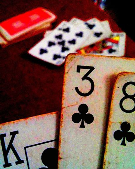 K38 Cards Cards Game Poker - Card Game Shuffle Deck King Communication Indoors  Close-up No People Day