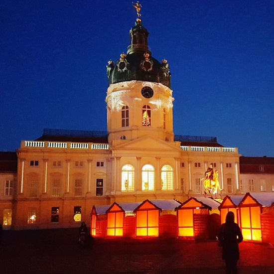 Christmas Lights Christmastime Schloss Charlottenburg Berlin Berlin Photography Travel Destinations Politics And Government City Illuminated Clear Sky Blue Government History Cityscape Clock Sky Christmas Dome Museum Castle