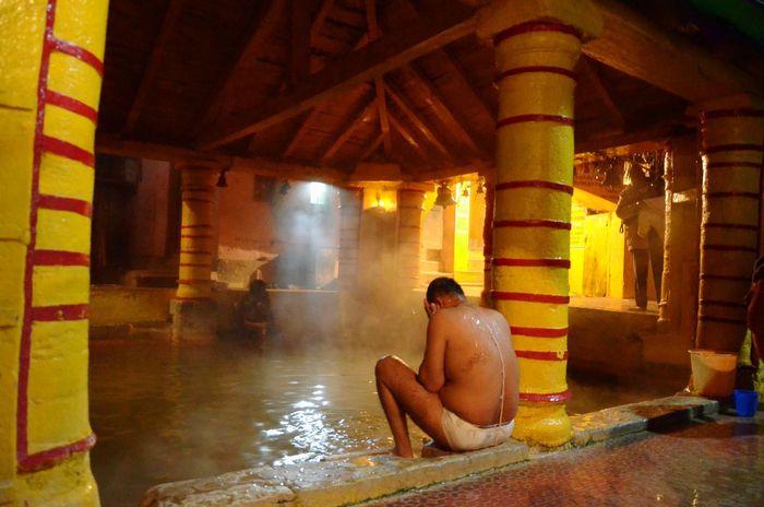 The hot springs at Badrinath invite you for a holy bath.Hotspring Man Bath Hot Water Pool Badrinath Temple Uttarakhand Nakedmen Bathing Sacred Holy Hindu God Nightphotography The Portraitist - 2016 EyeEm Awards Original Experiences