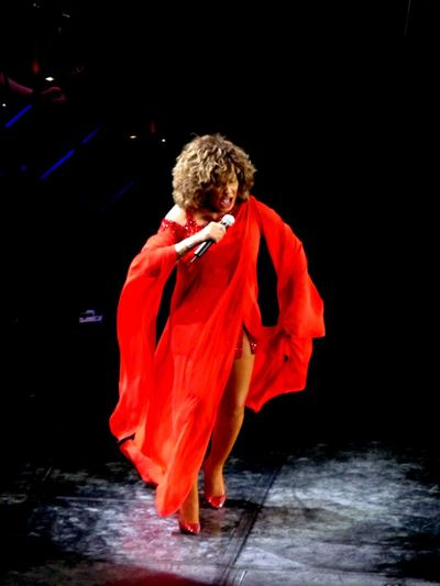 Focus On Foreground Full In Action In Concert München,Germany Night One Person Red Tina Turner