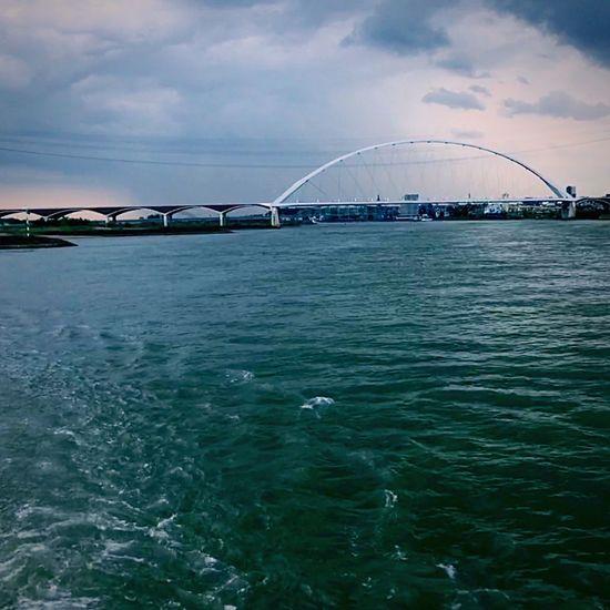 Boat River Bridge Water Architecture Clouds Cruise Cloudy Waal Waalbrug Nijmegen Nijmegen First Eyeem Photo