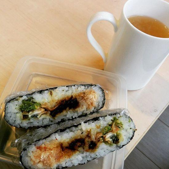 おにぎらず(明太子、昆布、ほうれん草とハムの卵炒め) おにぎらず Lunch
