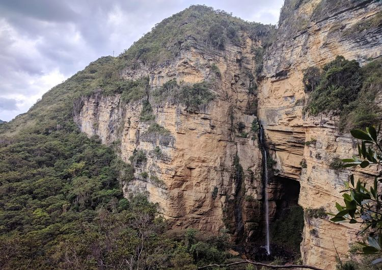 Cascada Hayal Waterfall Extreme Terrain Colombia Boyaca View Mountain Range Rock - Object Nature Mountain Low Angle View Outdoors Day Beauty In Nature Travel Destinations No People Tranquility Landscape Tree Cliff Rock Face An Eye For Travel