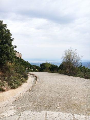 Nature Road Mountain Montserrat Barcelona SPAIN Sky Landscape High Beauty In Nature