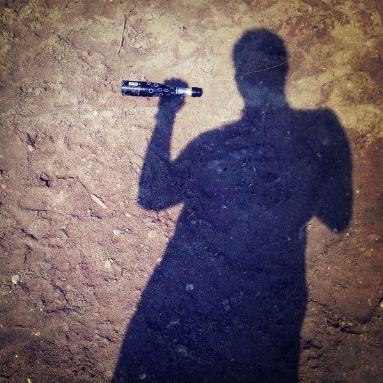 Shadow Drinking Sand Greece