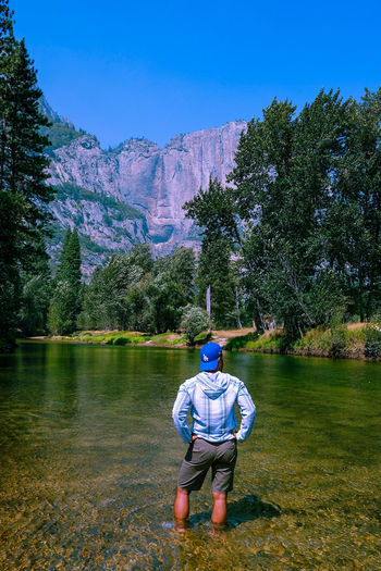 El Capitan EyeEm Selects Park Yosemite National Park Happiness Tree Full Length Child Childhood Men Grass Stream Calm