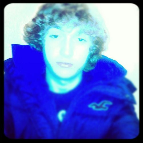 In My Hollister Puffer.