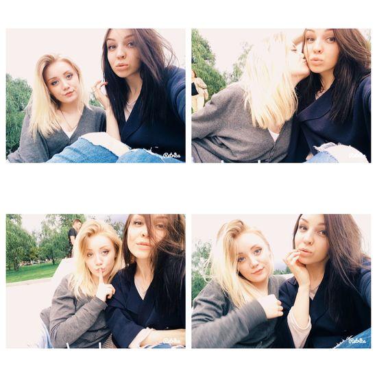 Blondeandbrunette Girlfriend Girls Enjoying Life
